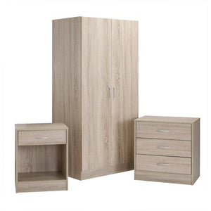 DELTA BEDROOM TRIO - OAK VENEER