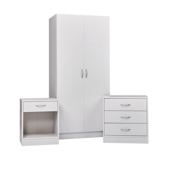 DELTA BEDROOM TRIO - WHITE VENEER