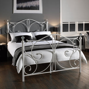FLORENCE DOUBLE BED - WHITE