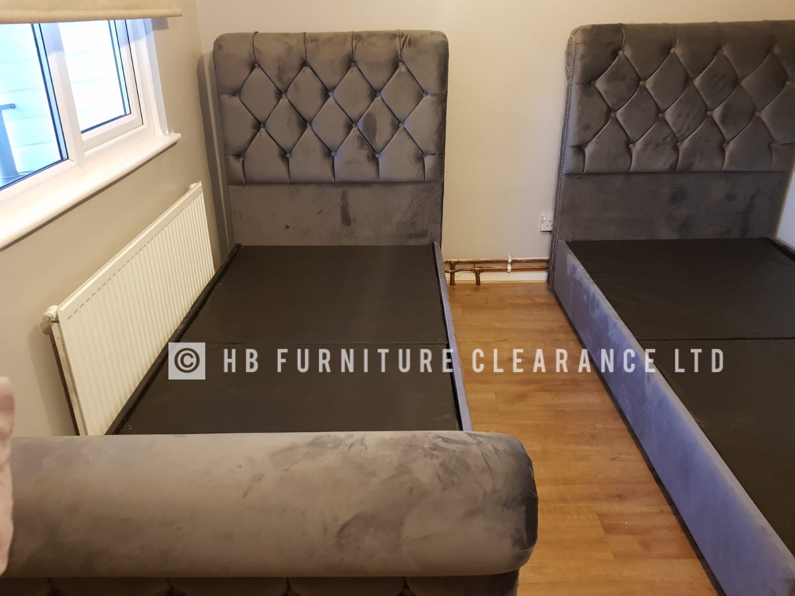 CHESTERFIELD SLEIGH BEDS (ALL SIZES AVAILABLE)