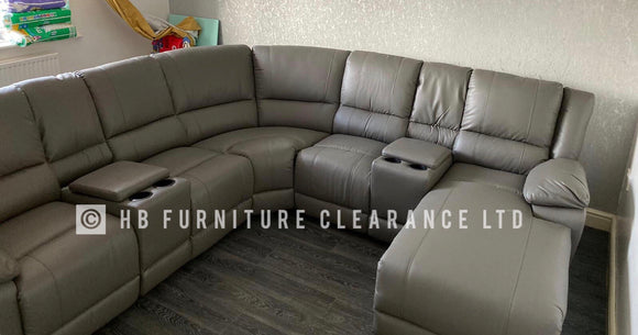 ASHBOURNE RECLINER CORNER SOFA - GREY