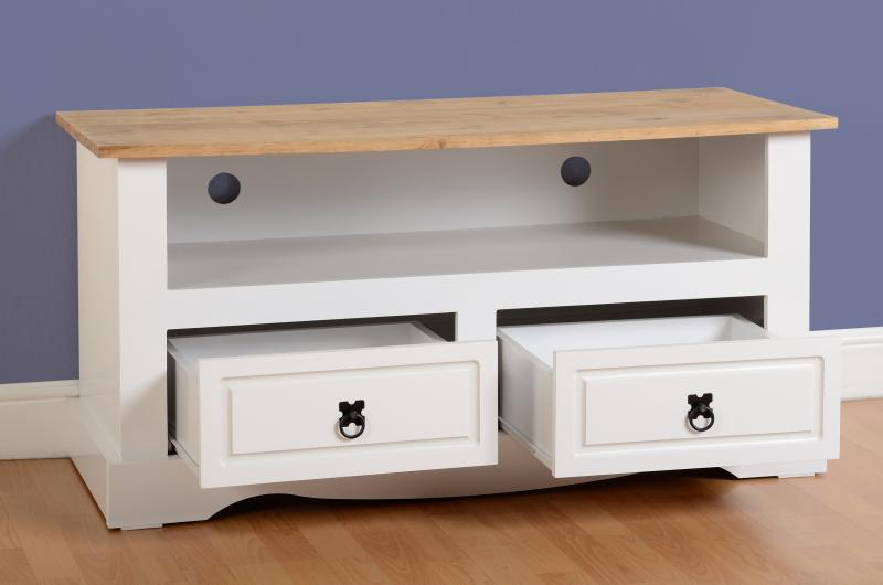 CORONA TV UNIT - WHITE