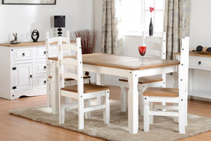 CORONA DINING SET - WHITE
