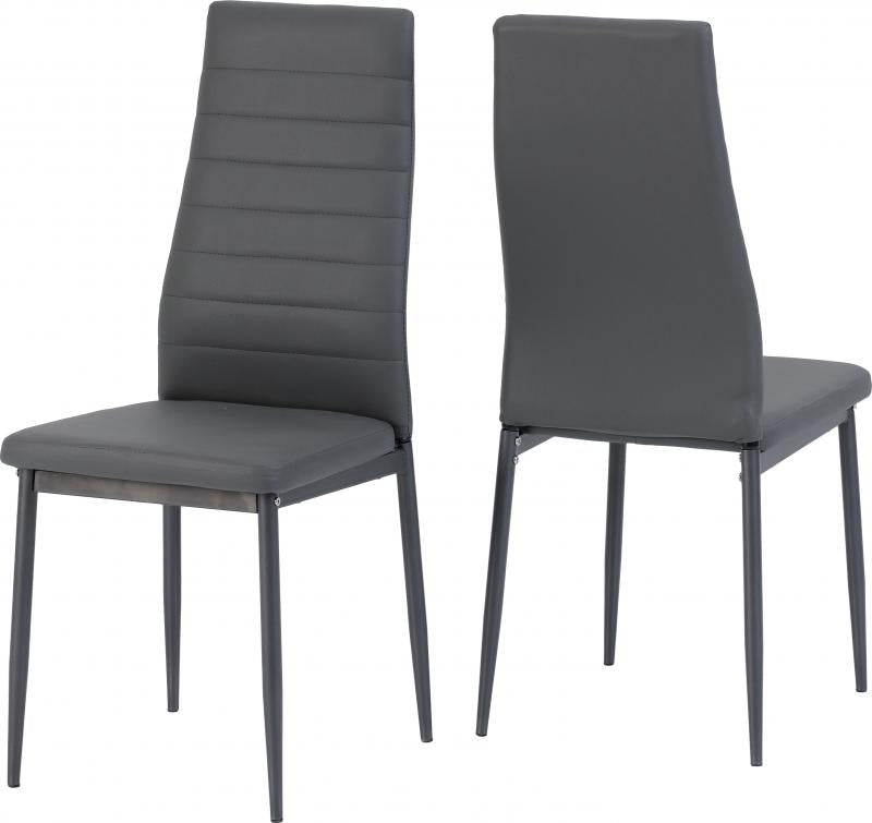 ABBEY DINING CHAIRS - GREY