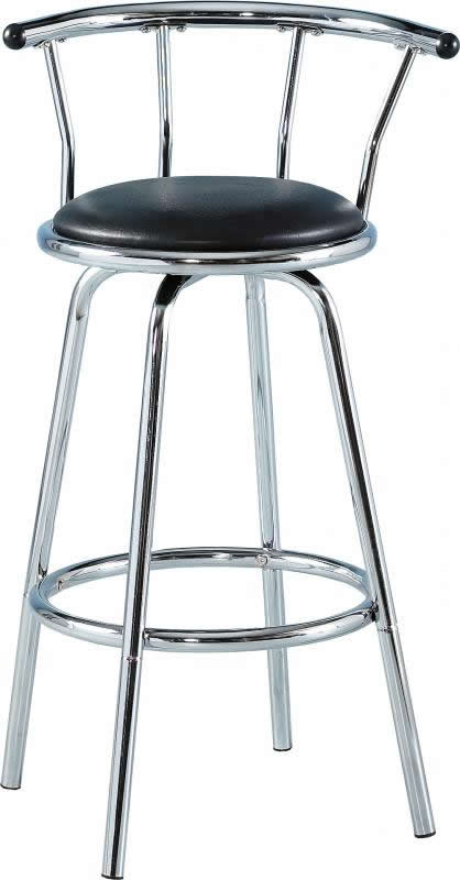 BERMUDA SWIVEL BAR STOOL - BLACK