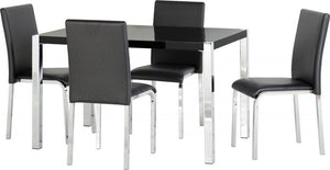 CHARISMA DINING SET - BLACK