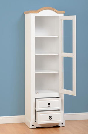 CORONA BOOKCASE/DISPLAY UNIT - WHITE