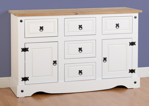 CORONA 2 DOOR 5 DRAWER SIDEBOARD - WHITE