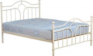 KESWICK DOUBLE BEDFRAME - CREAM