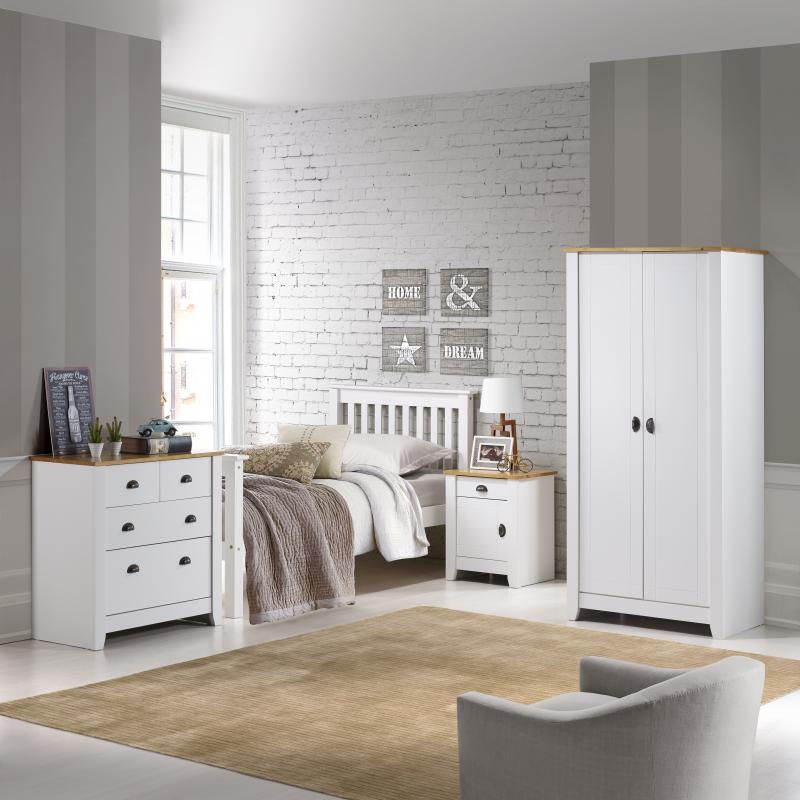 LUDLOW BEDROOM TRIO - WHITE OR GREY