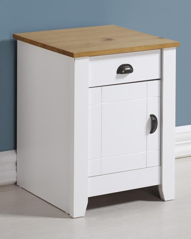 LUDLOW BEDSIDE - WHITE OR GREY