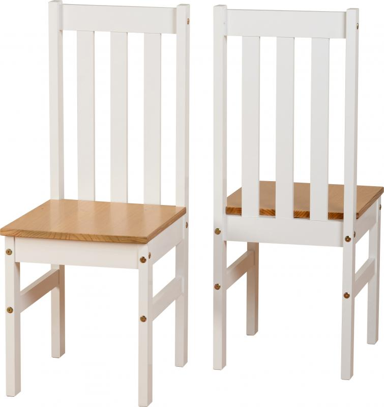 LUDLOW DINING SET - 4 CHAIRS - WHITE