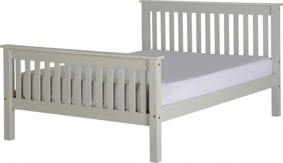 MONACO DOUBLE BED - GREY