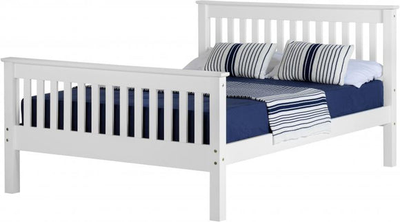 MONACO DOUBLE BED - WHITE