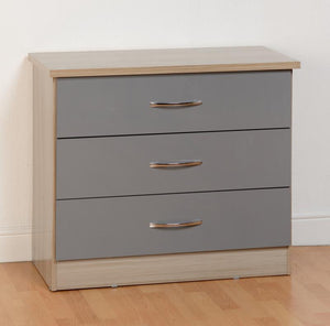 NEVADA 3 DRAWER CHEST - 3 COLOURS