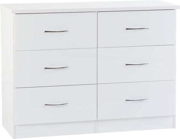 NEVADA 6 DRAWER CHEST - 2 COLOURS