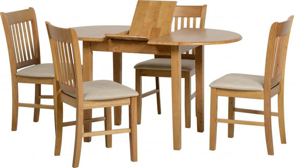 OXFORD EXTENDING DINING SET - NATURAL OAK