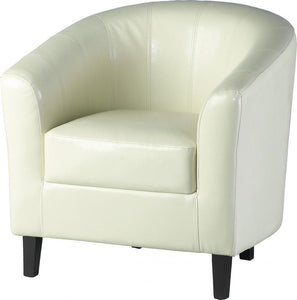 TEMPO TUB CHAIR - PU CREAM