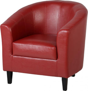 TEMPO TUB CHAIR - RED PU