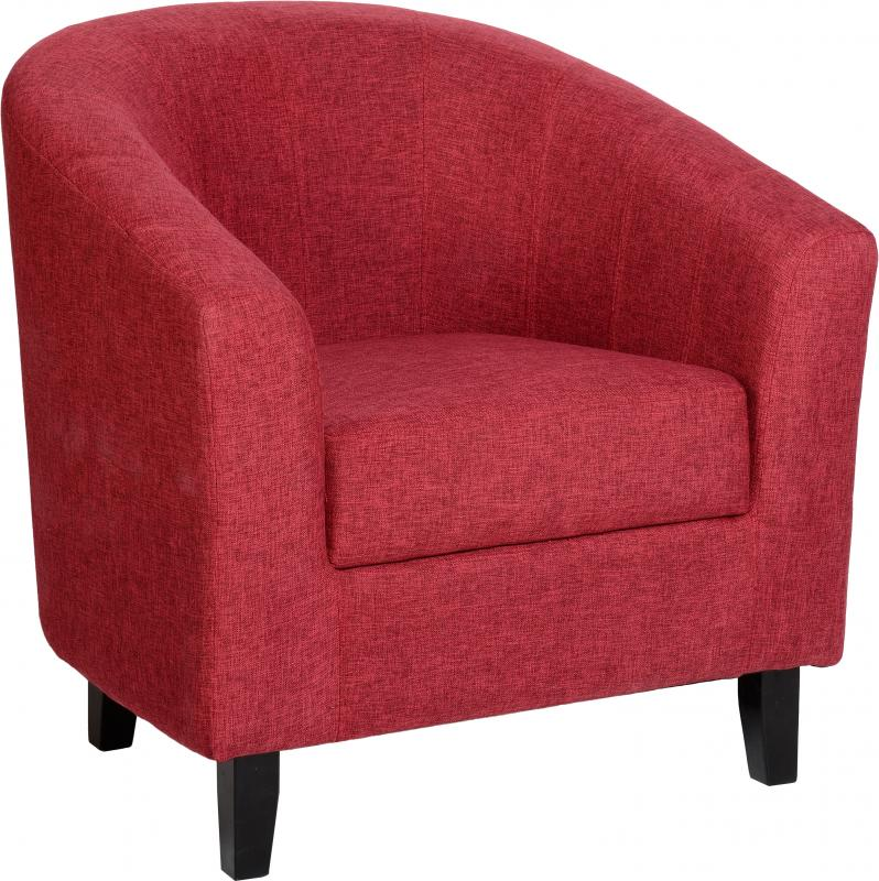 TEMPO TUB CHAIR - RED FABRIC