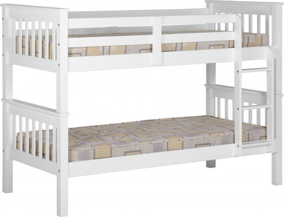 NEPTUNE SINGLE BUNK BED - WHITE
