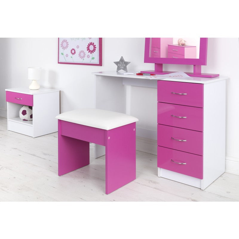 DRESSING TABLE STOOL - PINK