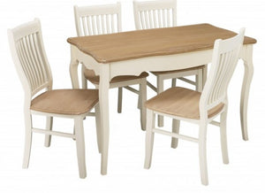 JULIETTE DINING SET + 4 CHAIRS