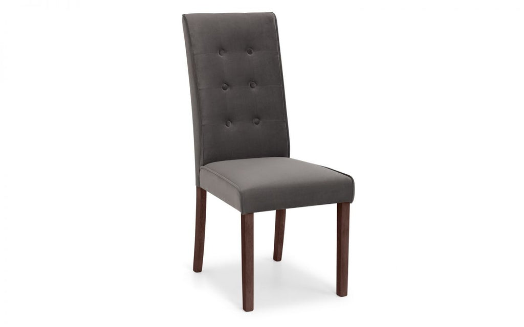 MADRID VELVET CHAIR - DARK GREY VELVET (per chair)