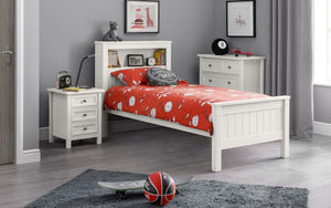MAINE BOOKCASE BED - SURF WHITE