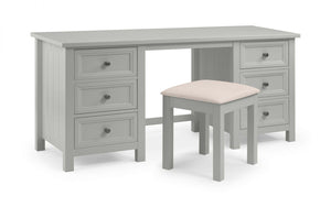 MAINE DRESSING TABLE & STOOL - DOVE GREY