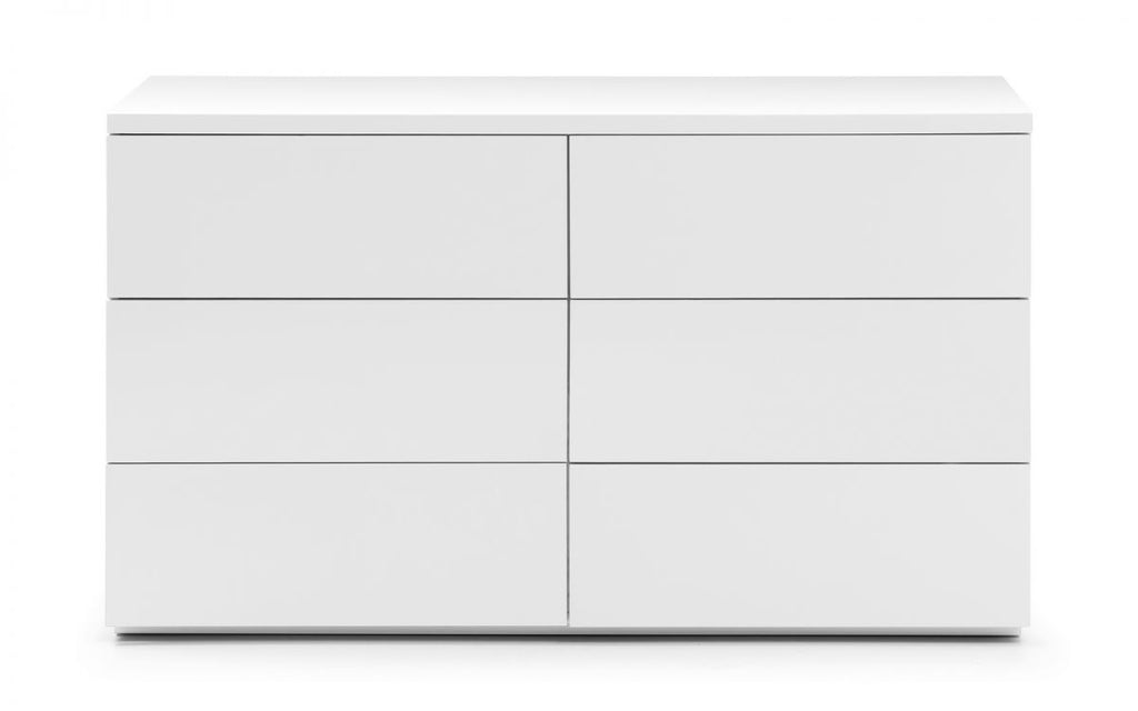 MONACO 6 DRAWER CHEST - WHITE GLOSS