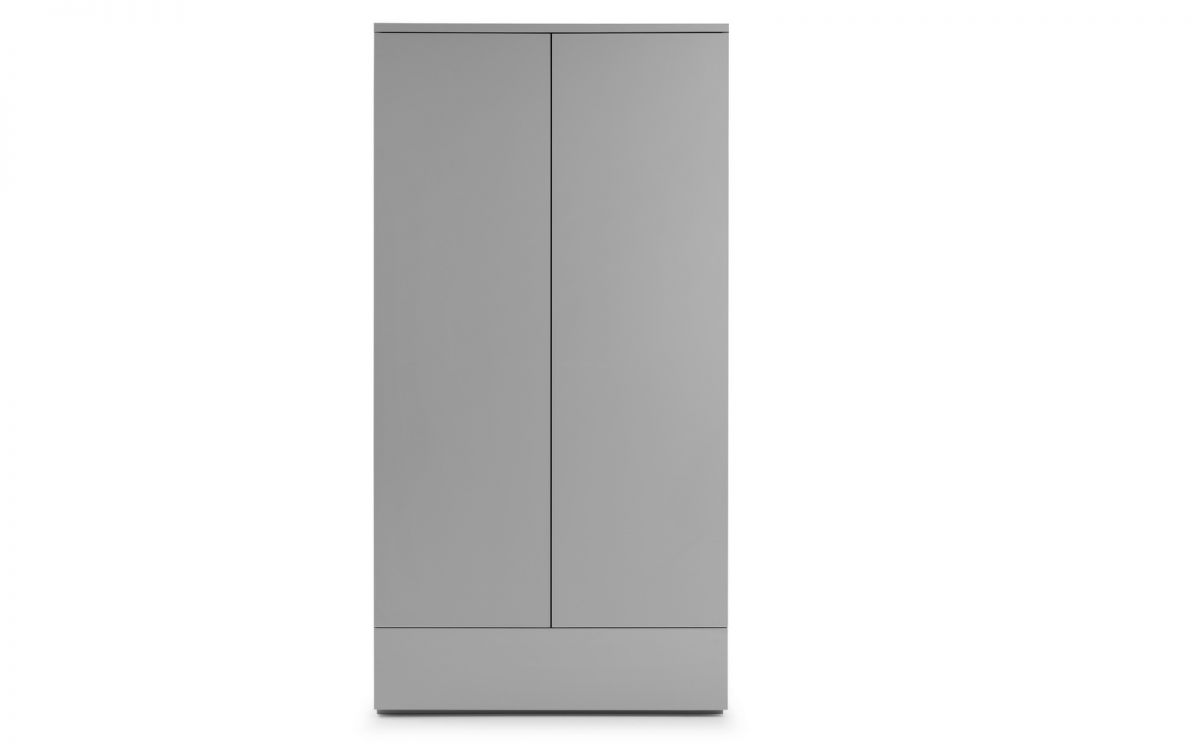 MONACO 2 DOOR WARDROBE - GREY GLOSS
