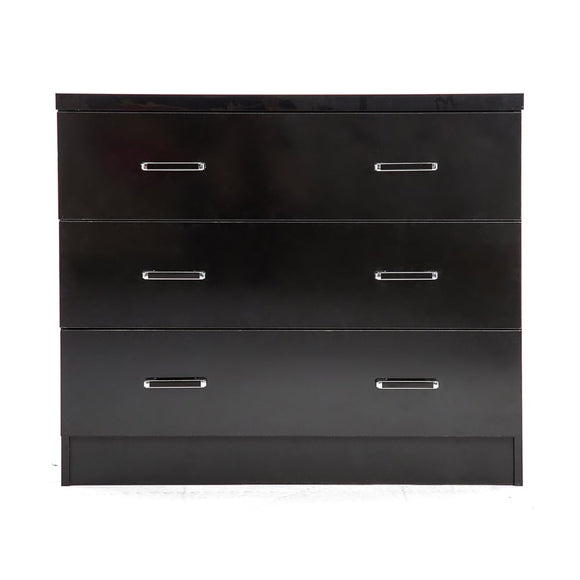 NOVELLO 3 DRAWER CHEST - BLACK GLOSS