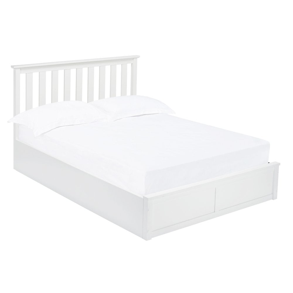 OXFORD LIFT BED - DOUBLE - WHITE