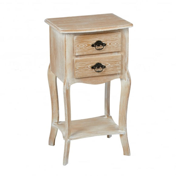 PROVENCE 2 DRAWER SIDE TABLE