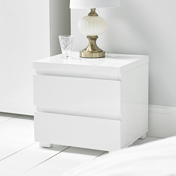 PURO HIGH GLOSS BEDSIDE - VARIOUS COLOURS