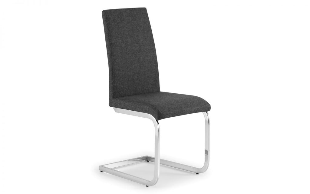 ROMA CANTILEVER CHAIR - SLATE GREY LINEN (per chair)