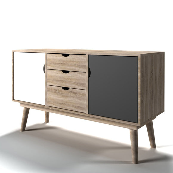 SCANDI RETRO SIDEBOARD - GREY