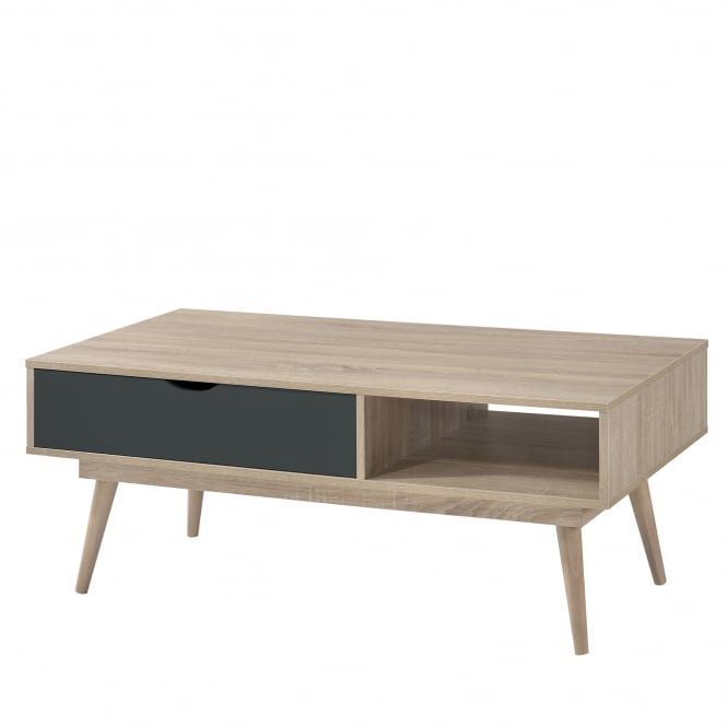 SCANDI RETRO COFFEE TABLE - GREY