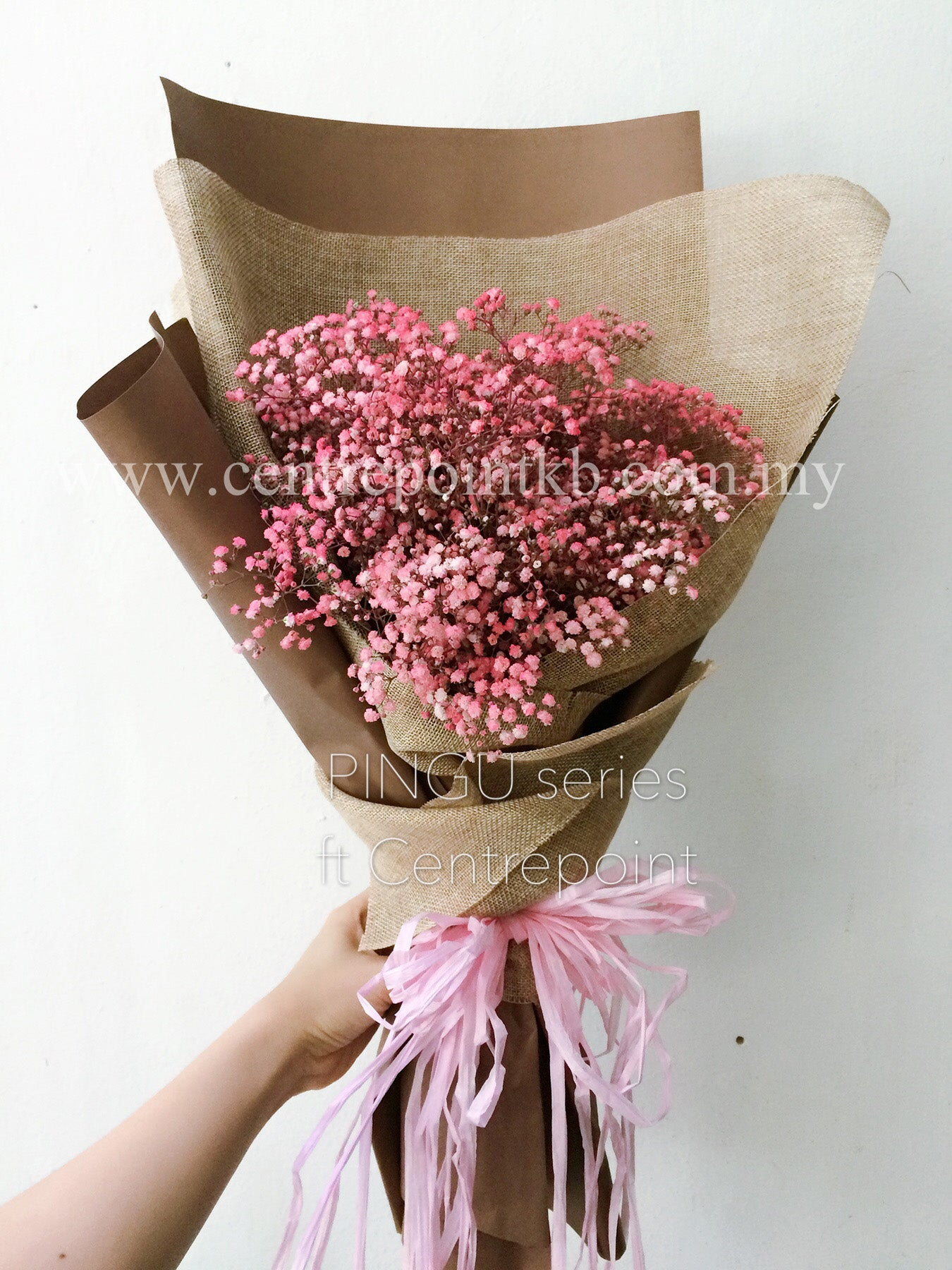 Pink Baby Breath Bouquet Rm10000 Perniagaan Centrepoint