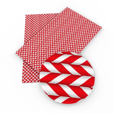 Christmas Peppermint Stick Printed Faux Sheet