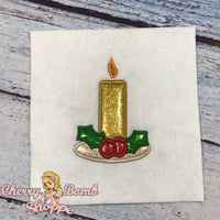 Christmas Candle Applique