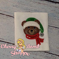 Christmas Bear Applique