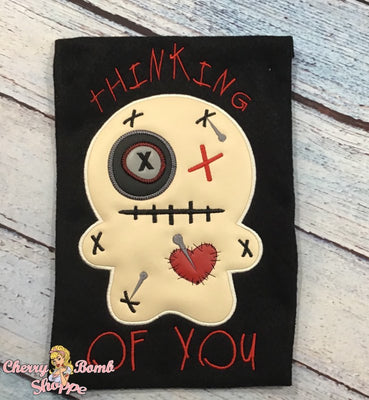 Jinx Voodoo Doll Applique