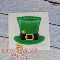 Top Hat with Shamrock Applique