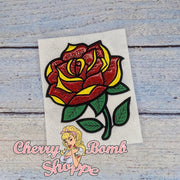 Glass Rose Applique