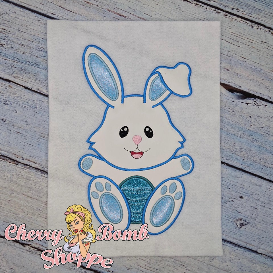 Bunny with Egg Applique