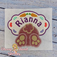 Bunny Frame Applique