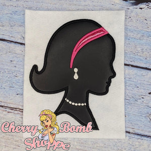 Girl Silhouette Applique