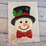 Snowman with Top Hat Applique